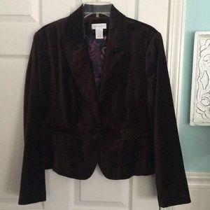 14 Worthington dark brown velour blazer